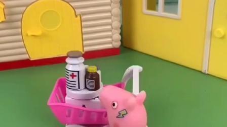 乔治要去奶奶家,猪爸爸在家做饭,他们要干啥么!