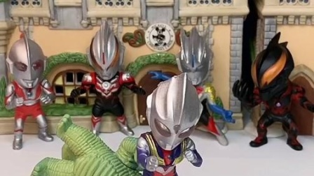 奥特曼家族要集合了,他们要保卫家园,不让怪兽进入城堡