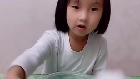童年趣事:宝贝不想吃棉花糖了