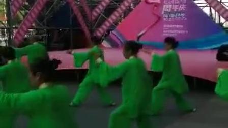 表演杨式28式太极拳