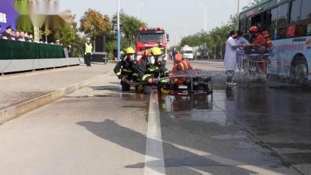 运城市永济市危险化学品车辆道路交通事故应急处置演练,