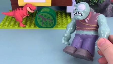 巨人僵尸把小鬼放婴儿车里了