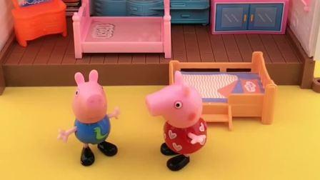 小猪乔治喜欢唱歌,小猪佩奇和猪妈妈不让他唱,乖乖的休息