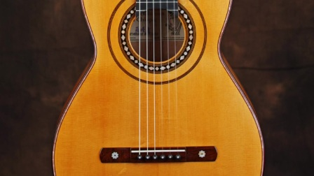 小蒋吉他 复古古典吉他手绘玫瑰园 索尔 米格尔 奇亚娜