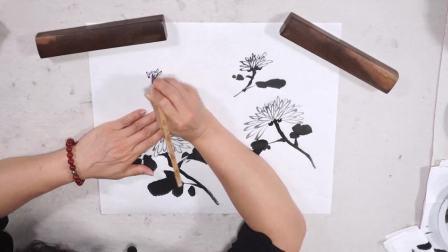 北京国画培训班徐湛 国画牡丹花教程步骤图 国画现场教学
