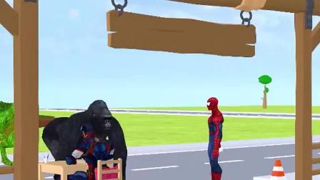 霸王龙不配合量体温,蜘蛛侠赶走了它