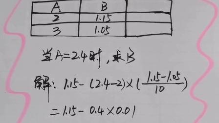 内差法计算教程