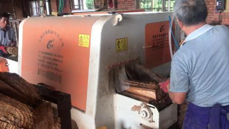 龙创圆木多片锯 锯木机 木工机器解木机 多片锯视频 自动分钟轴心喷水