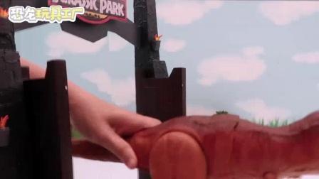 """我在霸王龙,生吃""""恐龙蛋""""截了一段小视频"""