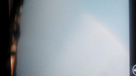 自然天象海市蜃楼之怪异彩虹