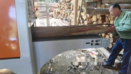 4米长木龙骨加工设备 圆木多片锯 圆木开方锯木机 分片开方多片锯视频 龙创牌