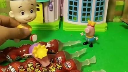 少儿益智亲子玩具:大头儿子说佩奇是怪兽变得