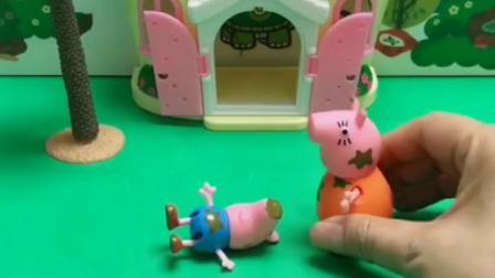 猪妈妈扔了乔治的玩具,玩具都被熊二葫芦娃捡走了