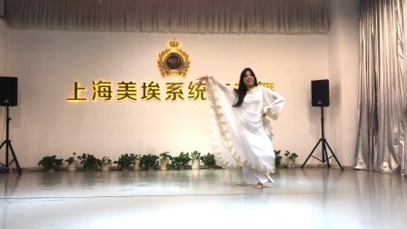 上海专业肚皮舞教学  媛媛   波斯湾甩发