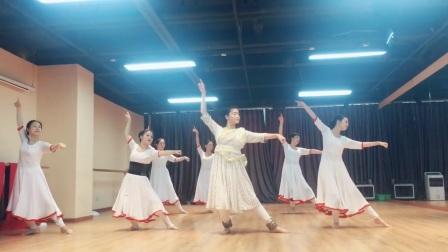 『舞蹈展示』印度卡塔克古典舞大神颂《Guru vandana》集体版【杭州太拉国际东方舞&印度舞培训漫漫老师】