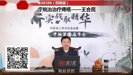 中医羊毛疔挑治治疗痔疮——王合民