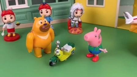 瑞贝卡送乔治自行车,熊二误会乔治借车不还