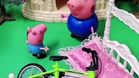 乔治敲响了猪奶奶家的门,奶奶爷爷不愿收留乔治