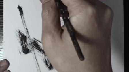 潘俊宏艺术家【京剧系列-3】毛笔速写素描步骤教程…欢迎提问交流