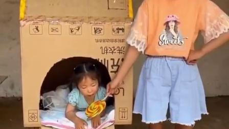 刻骨铭心的童年:依依好聪明,送上门的糖果直接吃掉