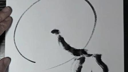 潘俊宏艺术家【京剧系列-5】毛笔速写素描步骤教程…欢迎提问交流