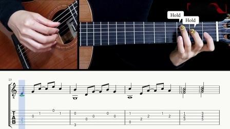 古典吉他独奏-挪威流行组合A-ha-带上我吧-Take On Me (The Last of Us 2)带谱教学-GQ121-207