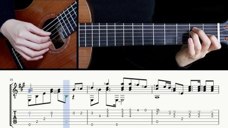 古典吉他独奏-披头士-Hey Jude-带谱教学-GQ121-307
