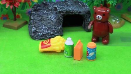 小猪佩奇买了吃的,不料被小熊拿走,佩奇乔治叫罗密欧帮忙