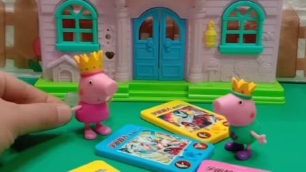 小猪佩奇玩奥特曼卡片,不料怪兽来了,奥特曼来帮忙