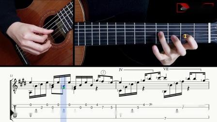 古典吉他独奏-披头士-顺其自然-Let it be (Hard Version) 带谱教学-GQ121-405