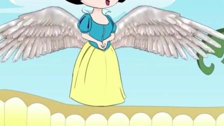 白雪的翅膀真漂亮,还能寻找乐趣呢