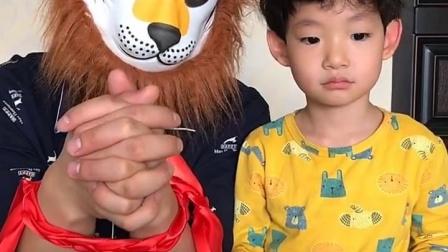 美好的童年:你怎么把大怪兽绑起来了