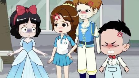白雪穿公主裙好漂亮,简直是万人迷啊