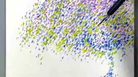 【落-禅意油画9】如何绘画步骤教程入门初学技巧课程教学快速表演示范|授课私教|放大定制|潘俊宏艺术家