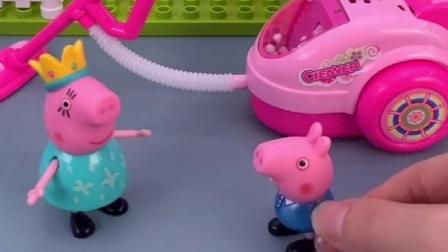 佩奇乔治家在干啥,猪妈妈在做饭,猪爸爸在什么呢!