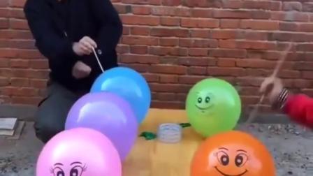 我的童年:扎气球好过瘾呢