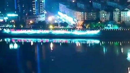 湖南省城市夜景     (如皋石庄业琛广场)