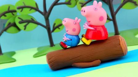 佩奇和乔治太调皮了,猪爸爸该怎么救他们?