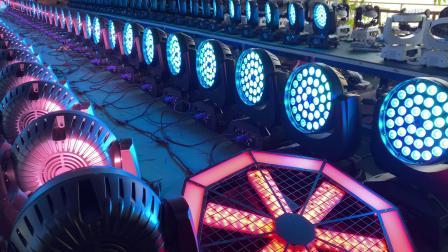 宴会厅灯光常用的LED摇头染色灯