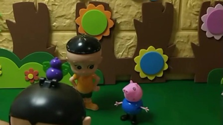 葫芦娃和乔治一起玩捉迷藏,乔治藏在苹果盒子里,葫芦娃能找见乔治吗