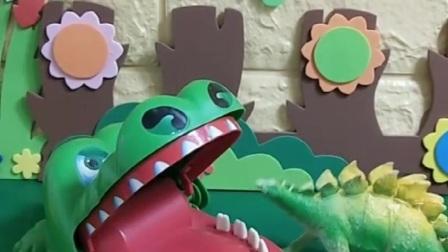 小恐龙叫来的是机器人,不是真的葫芦娃,小恐龙骗了大鳄鱼