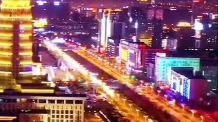 陕西省城市夜景   (如皋石庄业琛广场)
