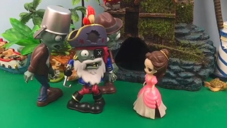 僵尸包围了贝尔白雪和王后,王后给僵尸起外号,白雪找植物炮来救援