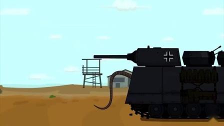 坦克世界动画:为了阻挡敌人的王八壳坦克,国王坦克下令开始修建堡垒