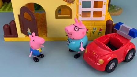 猪爸爸要送乔治上学,乔治说不用,乔治找小羊苏西一起去学校