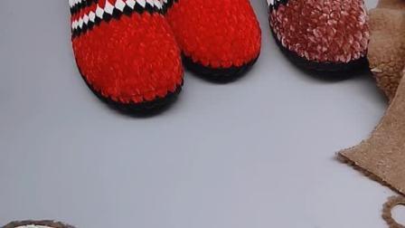 鞋垫+绒布教程小芬手工钩鞋