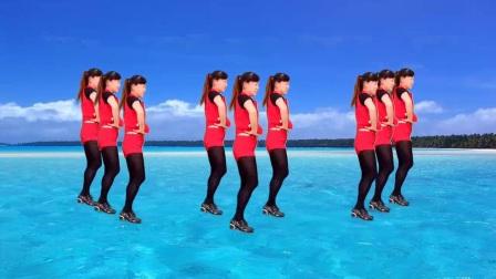 我在玫香广场舞《爱上你我傻乎乎》编舞:幽谷百合截了一段小视频