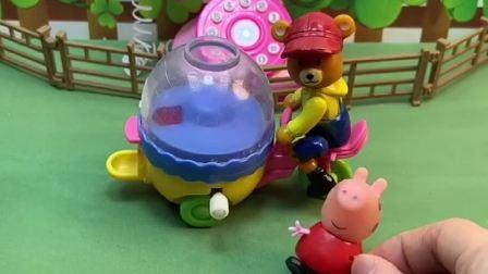 小猪佩奇想买零食,发现熊大叔的零食被拿走,奥特曼帮忙找