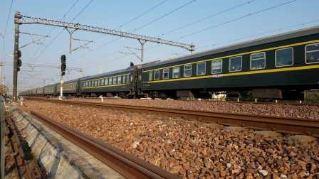 郑局郑段SS8 0084牵引客车K16次(重庆西~济南)限速通过陇海线上行 北东闸接近