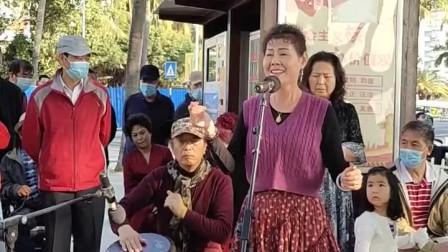 徐丽达演唱的《一杯美酒》三亚金声管乐队伴奏.摄录:韩炅卿2021.1.19.